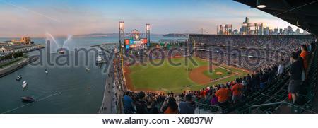 baseball park with audience, San Francisco, California, USA