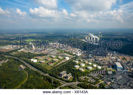 Ruhr Oel GmbH, oil refinery, Gelsenkirchen, Ruhr district, North Rhine-Westphalia, Germany - Stock Photo
