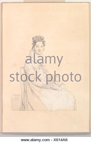 Madame Alexandre Lethière, née Rosa Meli, and Her Daughter, Letizia. Artist: Jean Auguste Dominique Ingres (French, Montauban 1780-1867 Paris); Date: - Stock Photo