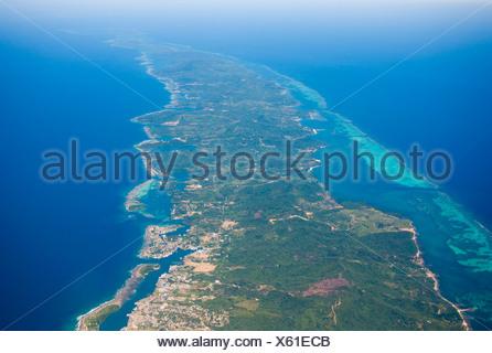 Eastern part of Roatan, French Harbour, Honduras, Caribbean - Stock Photo
