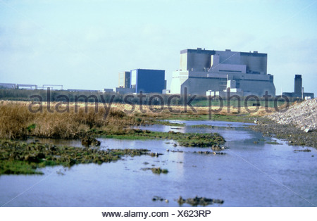 Hinkley Point nuclear power station Somerset UK - Stock Photo