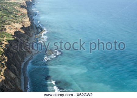 Israel Coastal plains south of Netanya aerial photography - Stock Photo