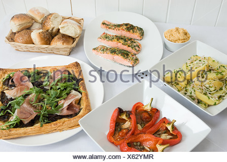 Selection of dishes - Stock Photo
