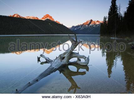 Sawtooth Mountains, Idaho, USA - Stock Photo