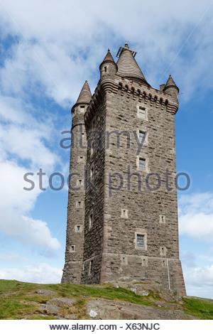 Scrabo Tower, Newtownards, County Down, Northern Ireland, Ireland, United Kingdom, Europe, PublicGround - Stock Photo
