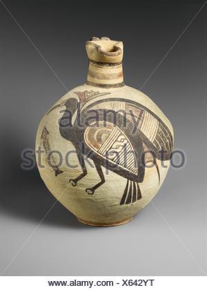 Terracotta jug. Period: Cypro-Archaic I; Date: 750-600 B.C; Culture: Cypriot; Medium: Terracotta; Dimensions: 11 1/16in. (28.1cm); Classification: - Stock Photo
