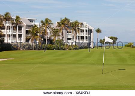 Golf course at South Seas Island Resort at Captiva, Florida, USA - Stock Photo