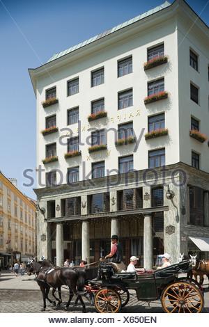 Loos House at the Michaelerplatz, Vienna, Austria - Stock Photo