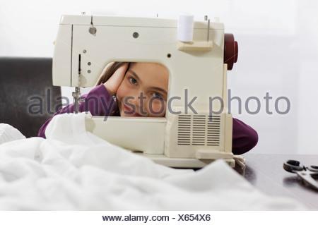 little sweet tailor girl - Stock Photo