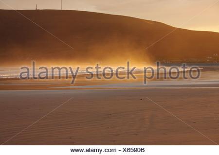 trawmore strand in connacht region; keel, achill island, county mayo, ireland - Stock Photo