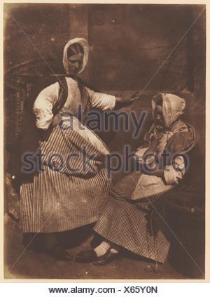 [Newhaven Fishwives]. Photography Studio: Hill and Adamson (British, active 1843-1848); Artist: David Octavius Hill (British, Perth, Scotland - Stock Photo