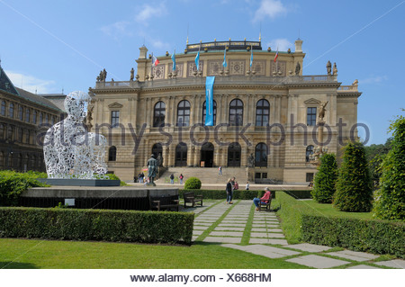 Rudolfinum concert hall, Prague, Czech Republic, Europe - Stock Photo