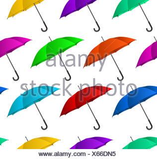 Seamless colorful umbrellas background