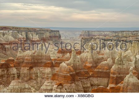 USA, United States, America, Arizona, Coal Mine Canyon, Navajo Indian Reservation, erosion, Indian country, landscape, hoodoo - Stock Photo