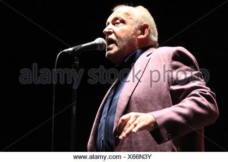 British Blues and Rock singer Joe Cocker performing, Filmnaechte am Elbufer festival, Hard Knocks Tour, Dresden, Saxony - Stock Photo