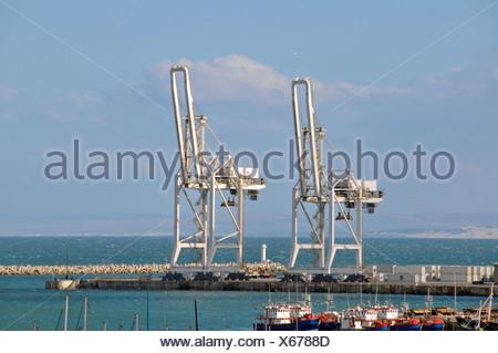 Industrial port, Port Elizabeth, Eastern Cape, South Africa, Africa - Stock Photo