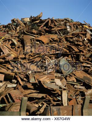 Scrap iron - Stock Photo