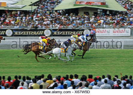 Racecourse of Mauritius Turf Club, Mauritius island, Africa - Stock Photo