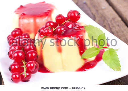 pudding with currants - Stock Photo