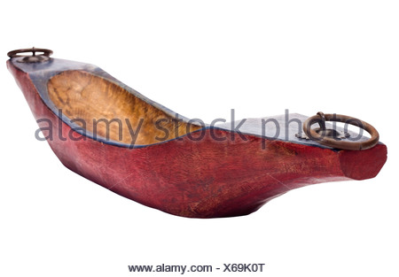 Close-up of a boat shaped showpiece - Stock Photo