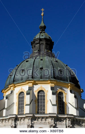 church bavaria germany german federal republic monastery minster convent - Stock Photo