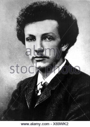 Strauss, Richard, 11.6.1864 - 8.9.1949, German composer, portrait, as young man, photo, 1888, Additional-Rights-Clearances-NA - Stock Photo