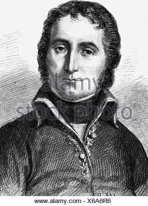 Masséna, André, 6.5.1756 - 14.4.1817, French general, portrait, wood engraving, 19th century, ,