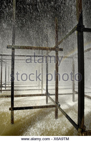 Coal-fired power station, cooling tower, water cooling, - Stock Photo