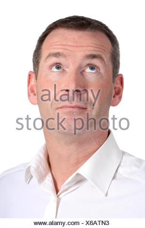 Mann schaut nach oben - Stock Photo