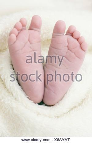 Newborn baby's feet - Stock Photo