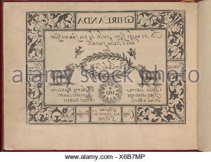 Ghirlanda: Di sei vaghi fiori scielti da piu famosi Giardini d´Italia. Designer: Pietro Paulo Tozzi (Italian, active 1593-1628); Publisher: Libraria - Stock Photo