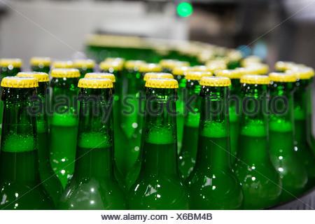 Carlsberg Deutschland GmbH report: Filling Lübzer lemon - Stock Photo