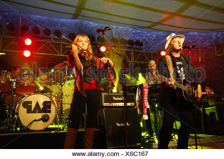 BAP, Cologne rock band, open air concert, Muehldorf am Inn, Bavaria, Germany - Stock Photo