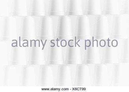 Stack of foam cups - Stock Photo