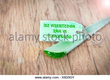 aloevera invest in their health - Stock Photo