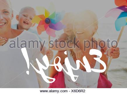 Summer Vacation Family Positivity Concept - Stock Photo