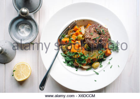 Meat and vegetable dish - Stock Photo