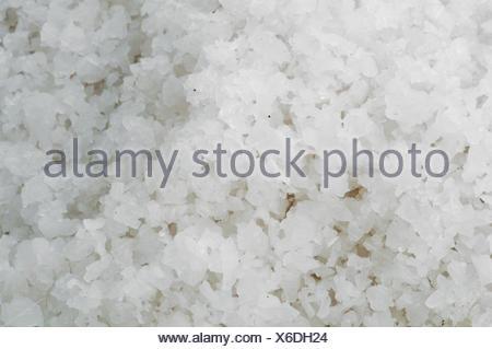 Pile of salt closeup - Stock Photo