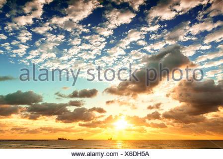 Sunrise in the sky - Stock Photo