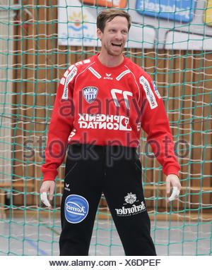 Goalkeeper Dan Beutler (TBV Lemgo) - Stock Photo