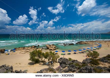 Falasarna Beach, west coast, Crete, Greece, Europe - Stock Photo