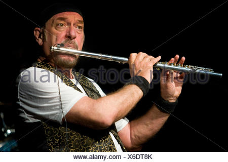 British multi instrumentalist and singer Ian Anderson, Jethro Tull, live at the Blue Balls Festival in Lucerne concert hall of - Stock Photo