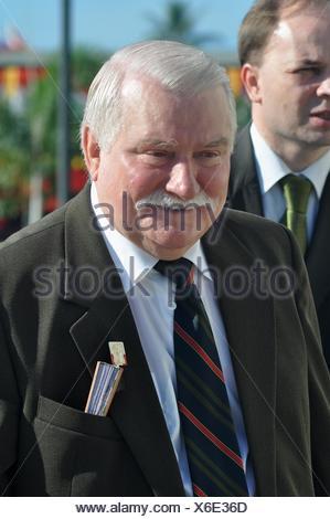 Lech Walesa, Dili, East Timor, Timor, Timor Leste, Polish, Poland, president, Nobel, commemoration, independence, celebration, - Stock Photo