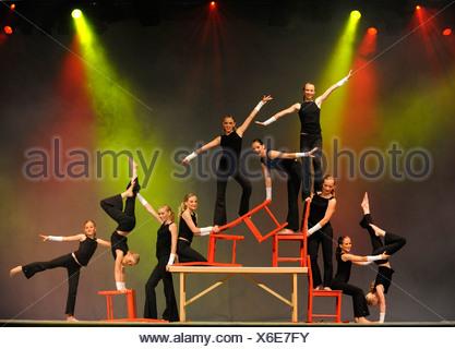 Gymnastics Youth National Finals review shows, Internationales Deutsches Turnfest International German Gymnastics Festival 2009 - Stock Photo