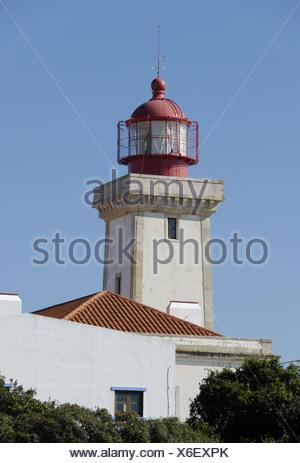 Alfanzina Lighthouse in Portugal - Stock Photo