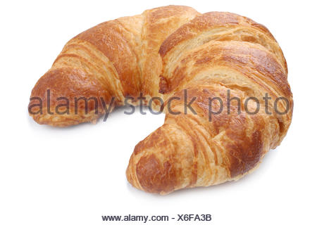 croissant isolated exempted for breakfast cut - Stock Photo