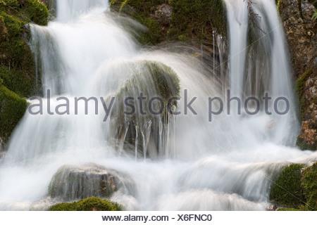 waterfall Hinterautal in Tyrol Austria - Stock Photo