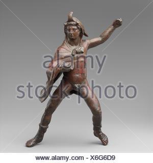 Bronze statuette of a rider wearing an elephant skin. Period: Hellenistic; Date: 3rd century B.C; Culture: Greek; Medium: Bronze; Dimensions: 9 - Stock Photo