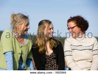Portrait of mature women and a teenage girl, Sweden. - Stock Photo