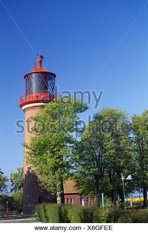 Germany Europe Staberhuk Fehmarn island Schleswig-Holstein lighthouse Europe island Baltic sea coast - Stock Photo